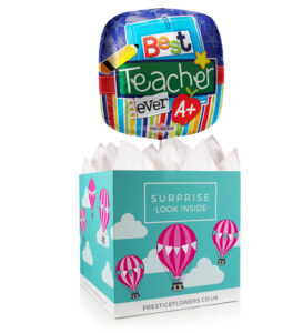 A Treat for Teacher - Balloon in a Box Gifts - Teacher Balloon Gifts - Balloon Gift Delivery - Teacher Gifts