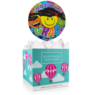 Happy Graduation - Balloon in a Box Gifts - Graduation Balloons - Graduations Balloon Gifts - Congratulations Balloons