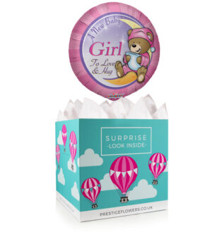 Welcome Girl Boy - Balloon in a Box Gifts - New Baby Girl Balloons - Balloon Gifts - Balloon Gift Delivery